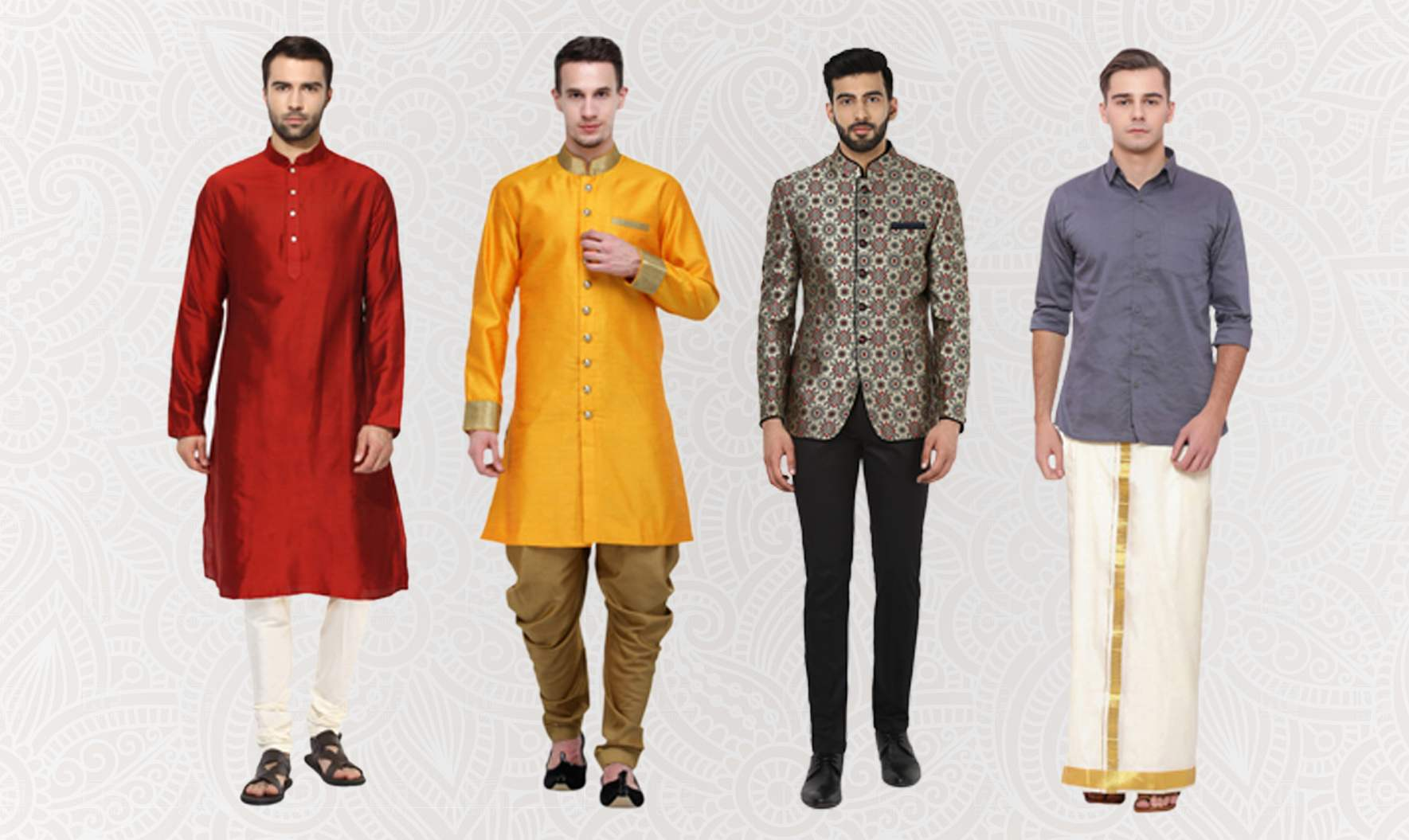 Ultimate Guide to Mens Ethnic Wear [10 Traditional Styles for Men  Infographic] - Fashion Suggest