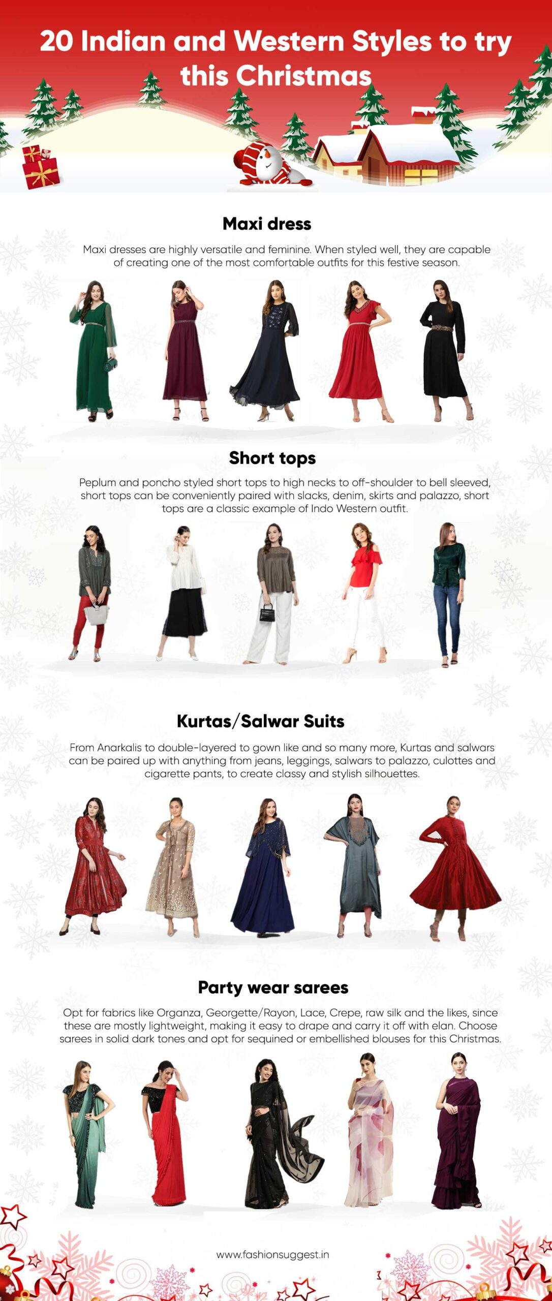 Indian And Western Christmas Outfit Styles For Women Fashion Suggest